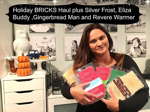 Scentsy Holiday Bricks HAUL -- Silver Frost, Gingerbread Man and Revere Warmers and Eliza Buddy