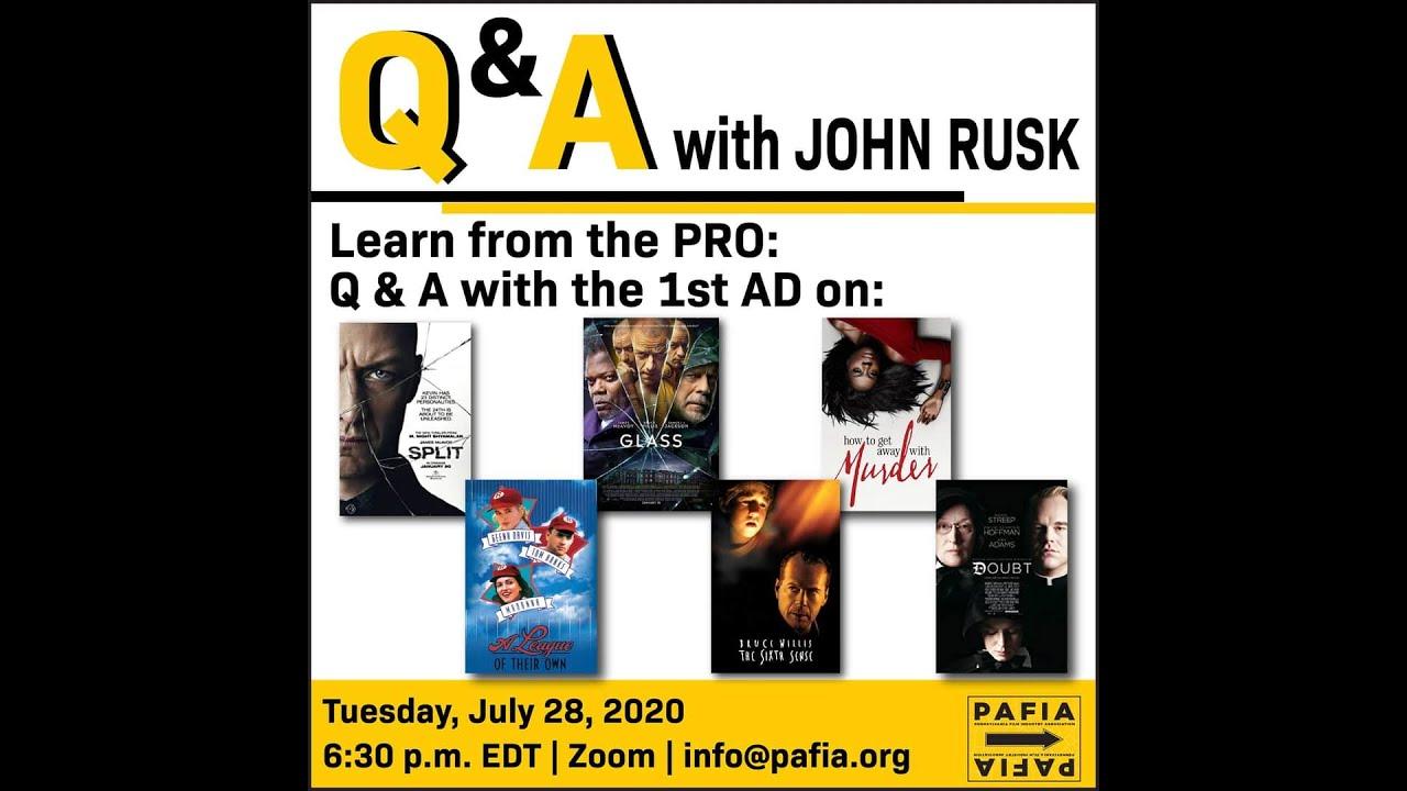 Masterclass with John Rusk