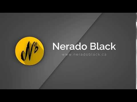 Nerado Black LOGO Flat Shadow Icon