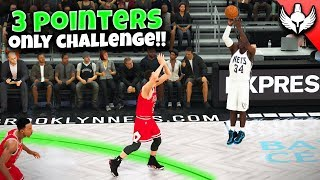 NBA 2K20 MyCAREER #12 - 3 POINTERS ONLY CHALLENGE!!
