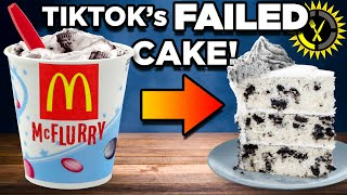 Food Theory: Testing the McDonalds McFlurry Cake! (Viral TikTok Hack)
