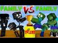FAMILY VS FAMILY -  Minecraft Got Talent - Funny Minecraft Animations