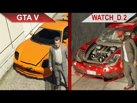 THE BIG GTA V vs. WATCH DOGS 2 SBS COMPARISON | PC | ULTRA
