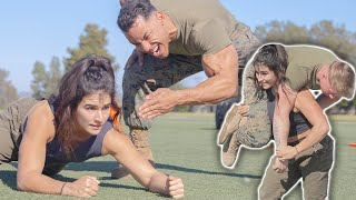 Crossfit Games Lauren Fisher Attempts US Marine Combat Fitness Test