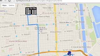 HTML5 - Geolocation + Google Map - Trazar ruta entre Markers Free HD Video