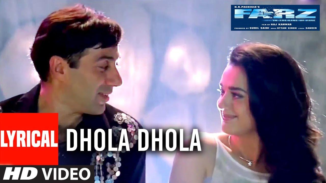 """Dhola Dhola"" Lyrical Video Song | Farz | Sunny Deol, Preity Zinta | T-Series"