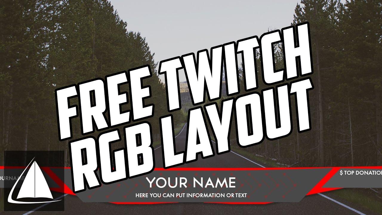"Scheme - ""RGB"" Twitch Layout | Free PSD Template - YouTube"