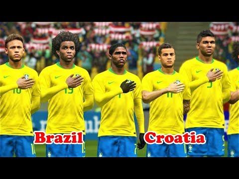 Brazil vs Croatia | International Friendly 2018 | PES 2018 Gameplay HD