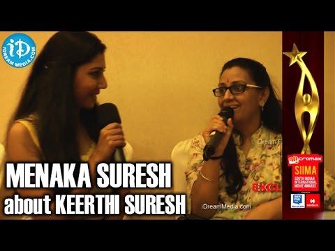 Menaka Suresh about her Daughter Keerthi Suresh @ SIIMA 2014, Malaysia