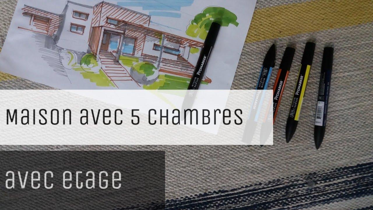 Une Maison Avec 5 Chambres Et Un Etage Plan 3d Youtube