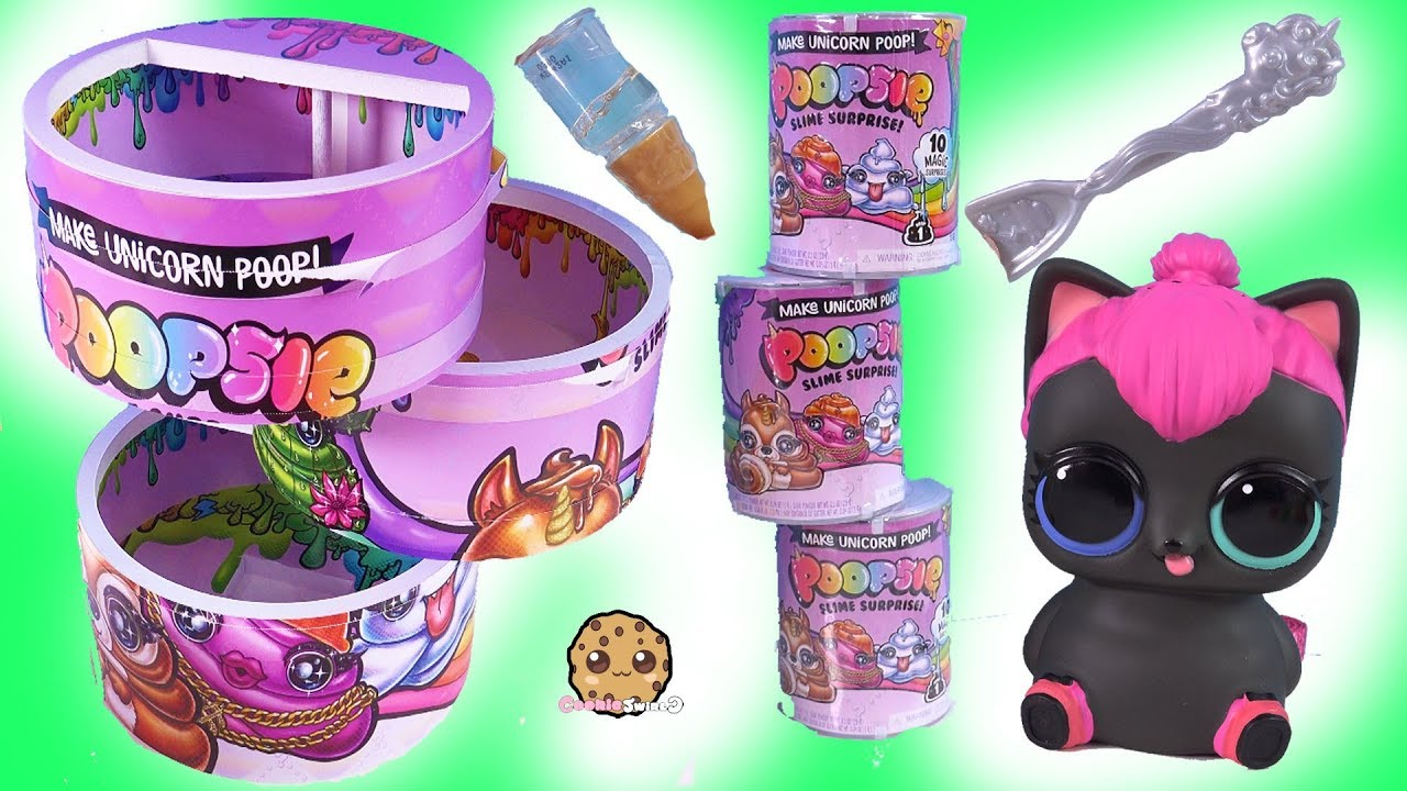 Giant Can of Poopsie Slime Cans ! LOL Surprise Biggie Pets LOVE  Blind Bags