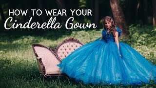 How to Wear Cinderella Dress - Wearing Cinderella Costume - Live-Action 2015