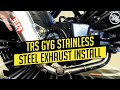 TRS GY6 STAINLESS STEEL EXHAUST INSTALL