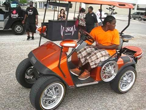 stupid tim in orange line golf car slab on swangaz 84 s youtube