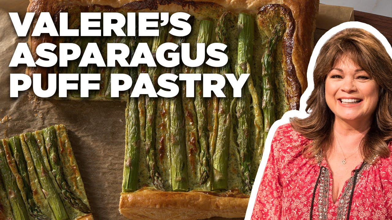 Valerie Bertinelli's Asparagus Puff Pastry | Valerie's Home Cooking | Food Network