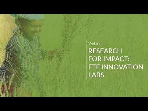 Webinar: Research for Impact, FTF Innovation Labs