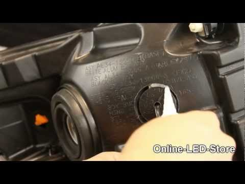 How to: LED Hide-A-Way Surface Mount Emergency Warning Strobe Light Installation on Headlight