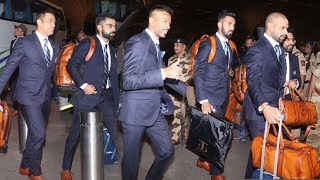 Watch Indian Cricketers getting Cheered @Airport leaving 4 World Cup England-MS Dhoni,Kohli,Hardik