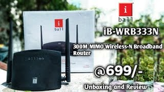 i ball iB-WRB333N 300M MIMO Wireless-N Broadband Router Unboxing and Review Cheapest Router