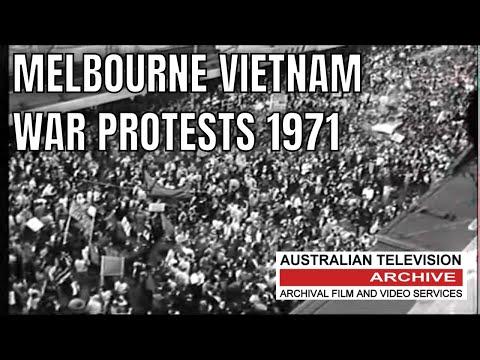 Vietnam War Protests - Melbourne, Australia  1971