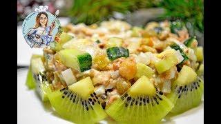 Простой и вкусный салат с тунцом. Рецепт салата. Салат на новый год.