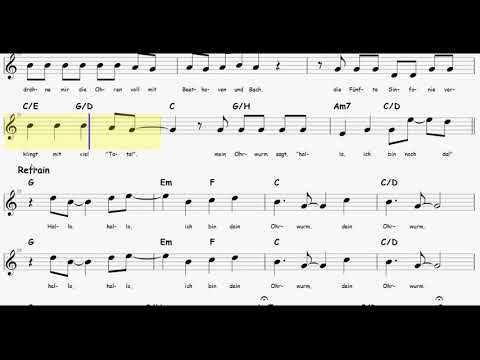 Wise Guys - Ohrwurm // Noten mit Akkorden