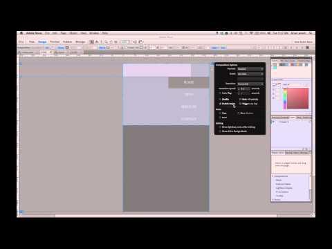 Adobe Muse sliding menu