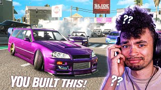 VIEWERS Build My REAL Skyline WAGON In CarX Drift Racing Online!