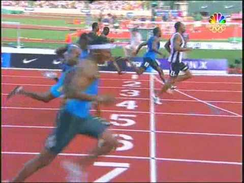 Olympic Trials Mens 100 Quarterfinal3 2008 USA Track & Field