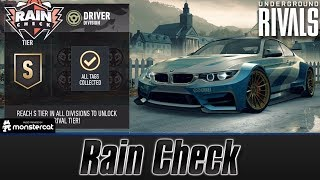Need For Speed No Limits: Underground Rivals | Rain Check | Driver Division | S Tier