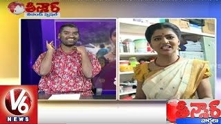 Bithiri Sathi Funny Conversation With Savitri Over Junk Food | Weekend Teenmaar News | V6 News