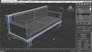 3Ds max sofa modeling tutorial for beginner