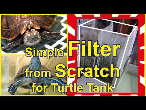 DIY... HOW TO MAKE FILTER FROM SCRATCH FOR TURTLE TANK