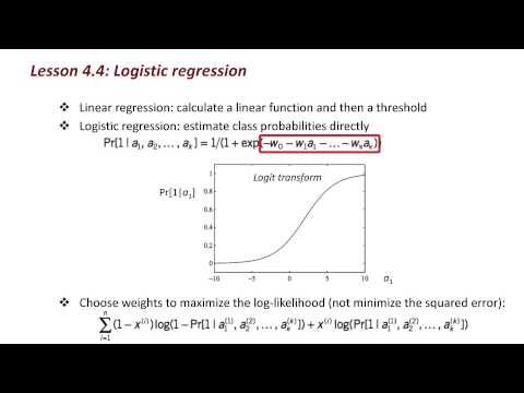 Data Mining with Weka (4.4: Logistic regression)