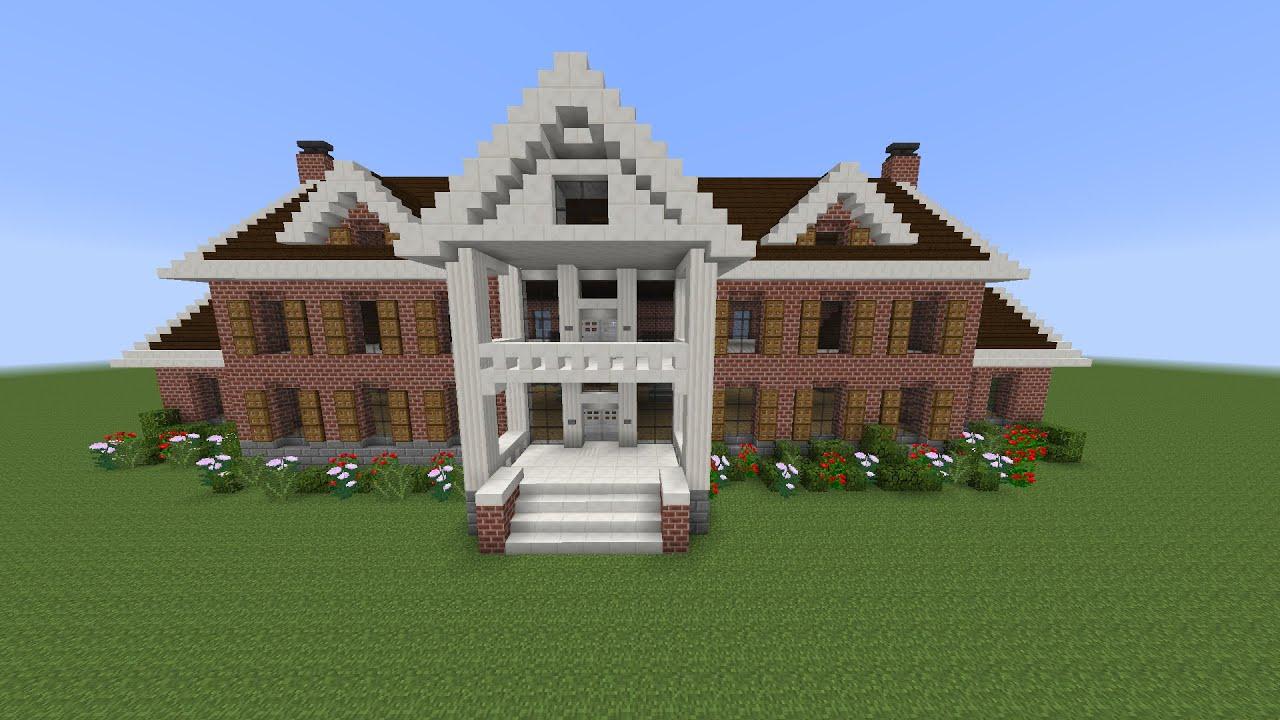 como hacer mansion clasica de ladrillo en minecraft pt2
