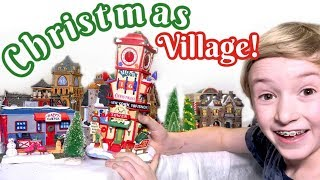 Our Christmas Village! Vlogmas Day 12