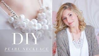DIY- pearl necklace ♥ (collana di perle)