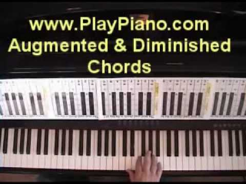 Learn All The Diminished Augmented Piano Chords In 15 Minutes Or