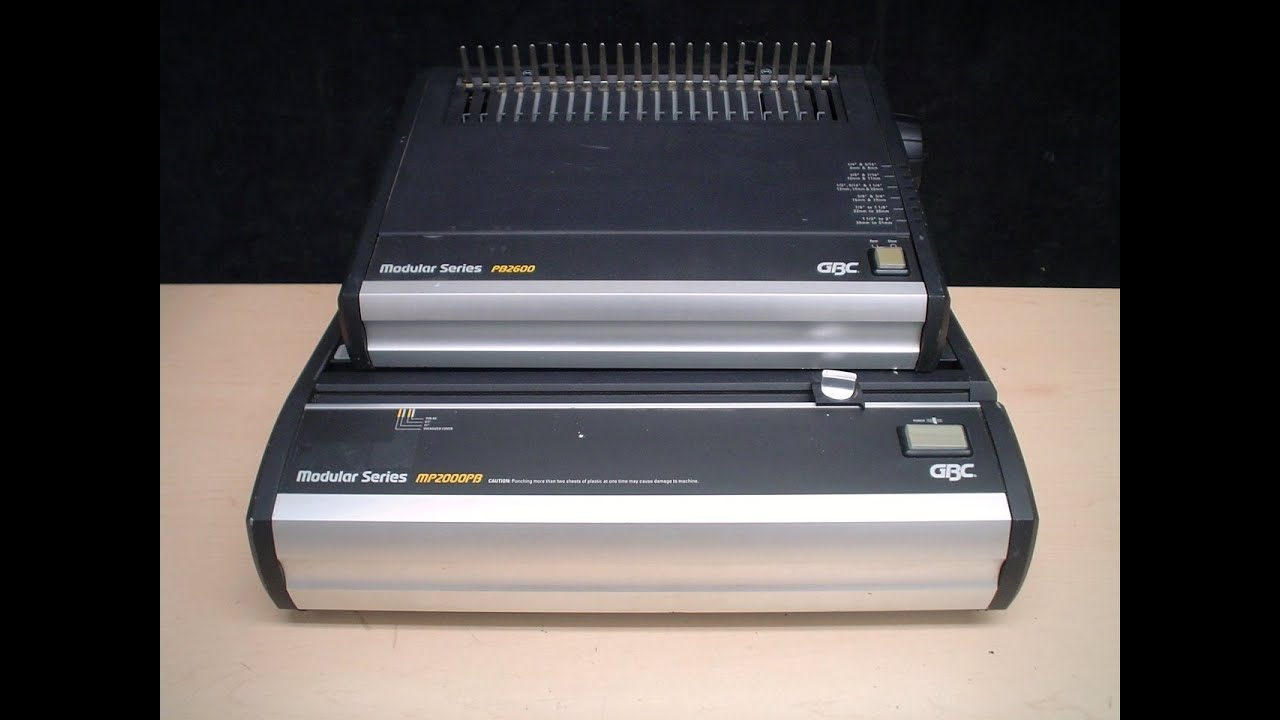gbc pb2600 electric comb opener binding machine recyclecology ebay rh youtube com
