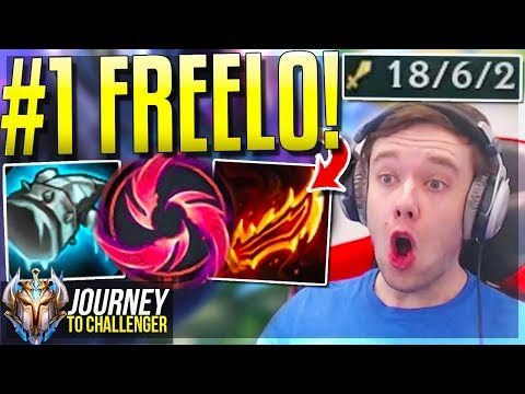 #1 MOST OP CHAMPION IN LEAGUE!!!!!! FREELO - Journey To Challenger | League of Legends thumbnail