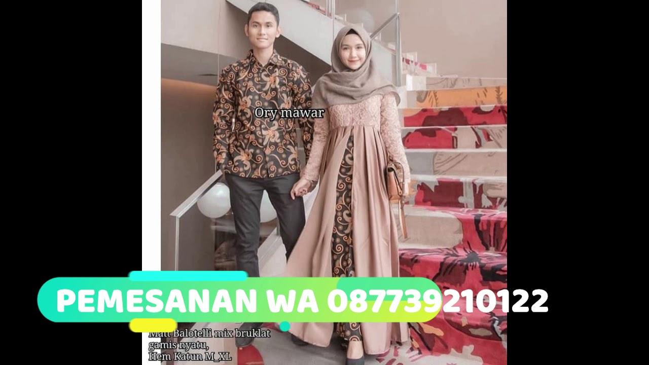 Trend Model Baju Batik Brokat Couple Anami Terbaru Kekinian
