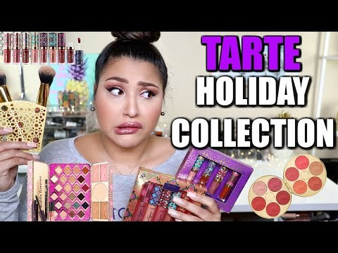 TARTE HOLIDAY TRY ON + GIVEAWAY!
