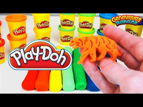 Learn Colors and Animal Names with Fun Play-Doh Cookie Cutters!