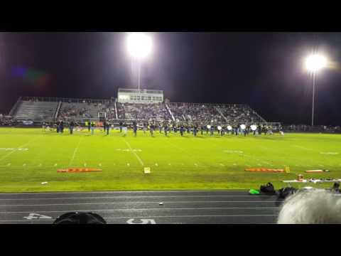 Kirbyville high school marching band game performance 8/26/2016