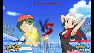 Pokemon Battle USUM: Alola Ash Vs Dawn (Pokémon Alola Vs Sinnoh)