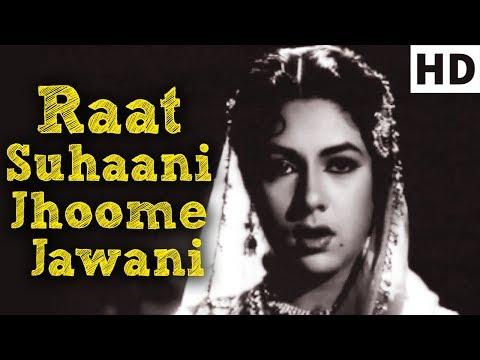 Raat Suhaani Jhoome Jawani - Rani Roopmati Song - Lata Mangeshkar - Old Classic Songs (HD)