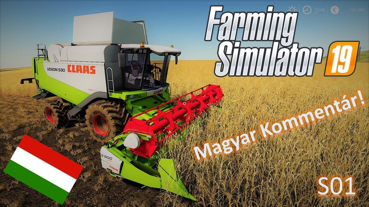 Farming Simulator 19 Magyar nyelven - 02  Az első búza aratás!