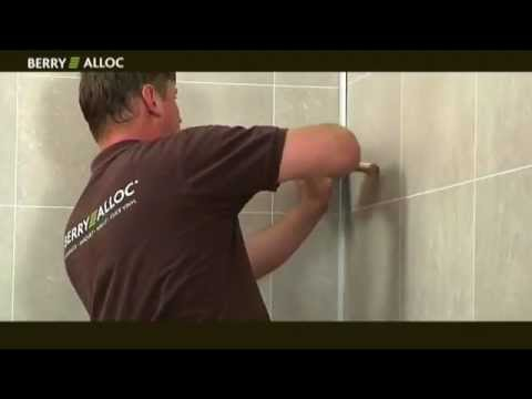 Berryalloc installation vid o wall water youtube - Panneau imitation carrelage ...