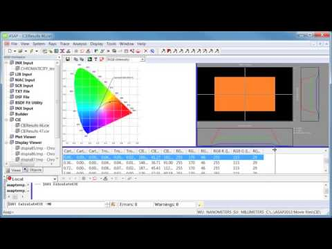 Access New CIE CHROMATICITY Functionality with Script Inputs in ASAP