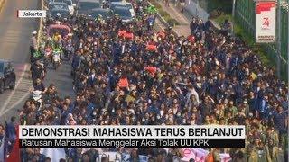 Demonstrasi Mahasiswa Tolak RUU KPK Terus Berlanjut